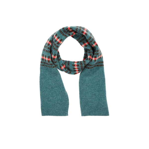 Boys & Girls Blue Extra Fine Merino Scarf