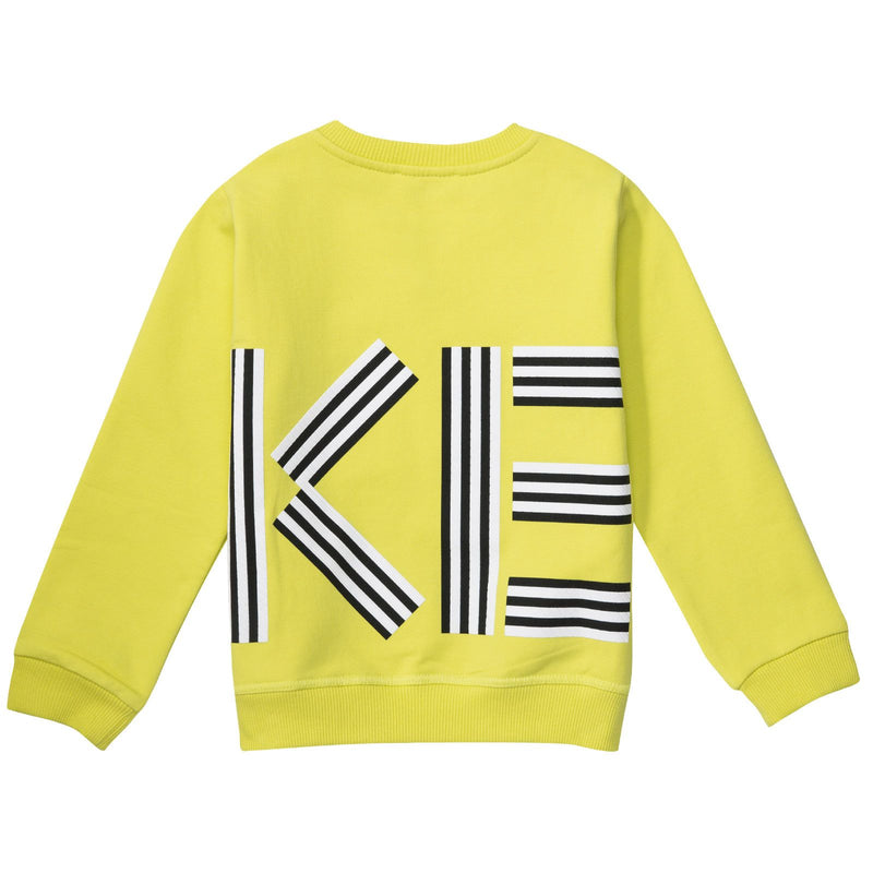 Baby&Girls Lime Green Printed Logo Sweatshirt - CÉMAROSE | Children's Fashion Store - 2