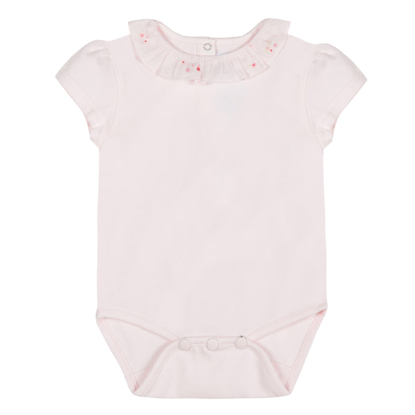 Girls Pale pink Cotton Babysuit