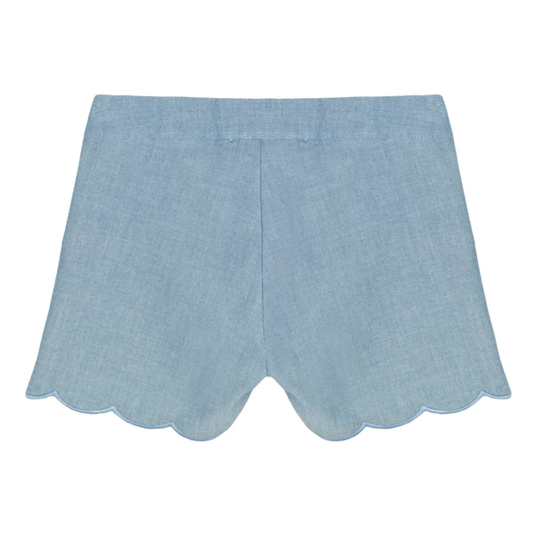 Girls Light Blue Shorts