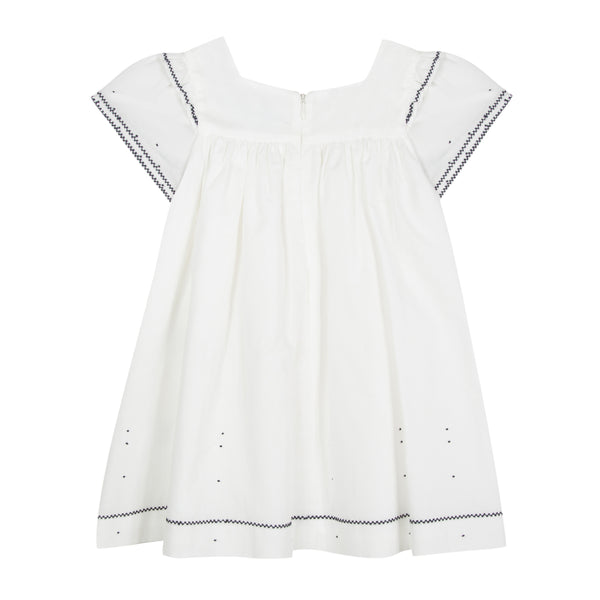 Girls White Cotton Dresses