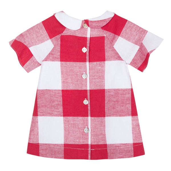 Baby Girls Red Check Dress