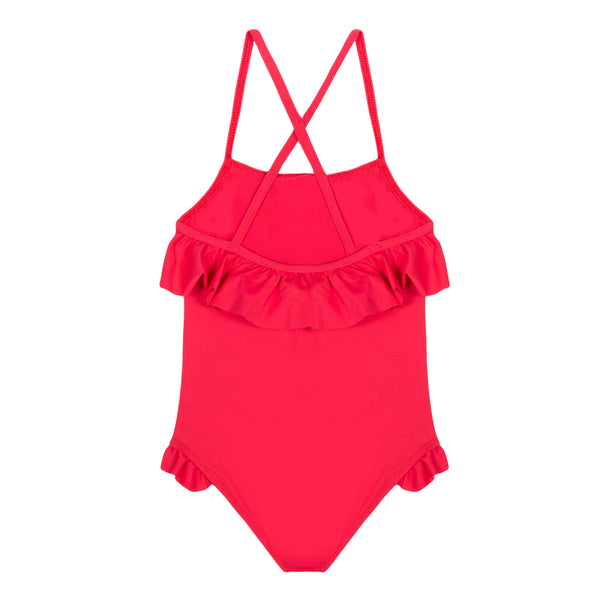 Girls Red Swimsuit