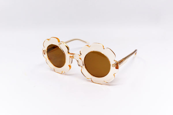 'Pixie' Bio Transparent Champagne Sunglasses