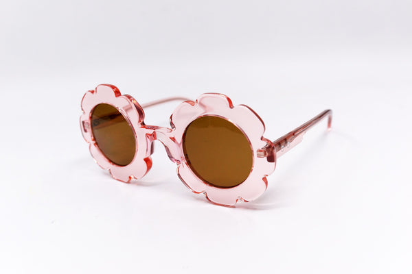 'Pixie' Bio Transparent Romantic Pink Sunglasses