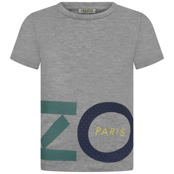 Boys Grey Logo T-shirt