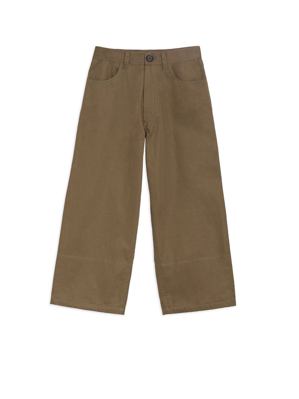 Boy Dark Green Cotton Trousers