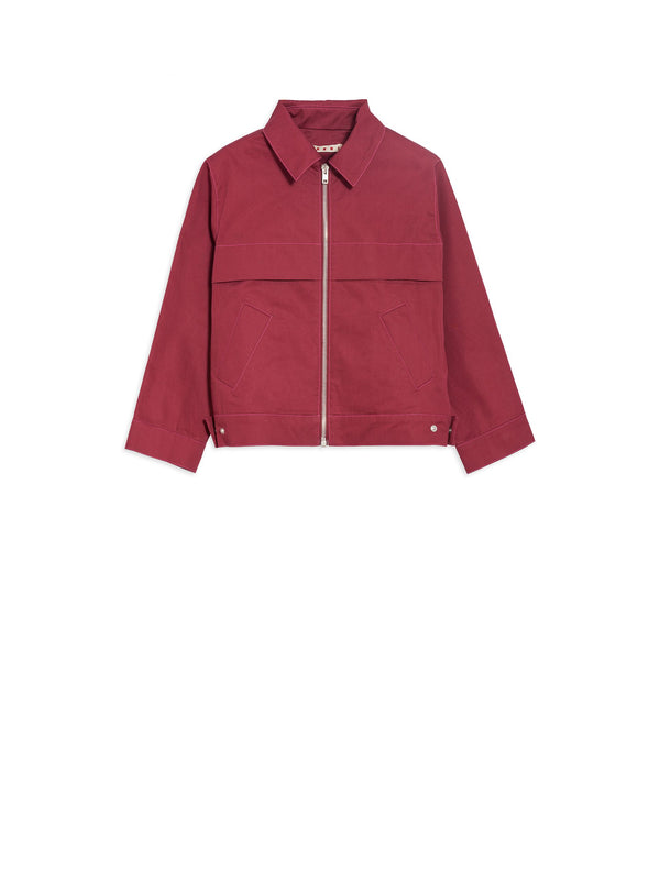 Girls Wine Cotton Jacket