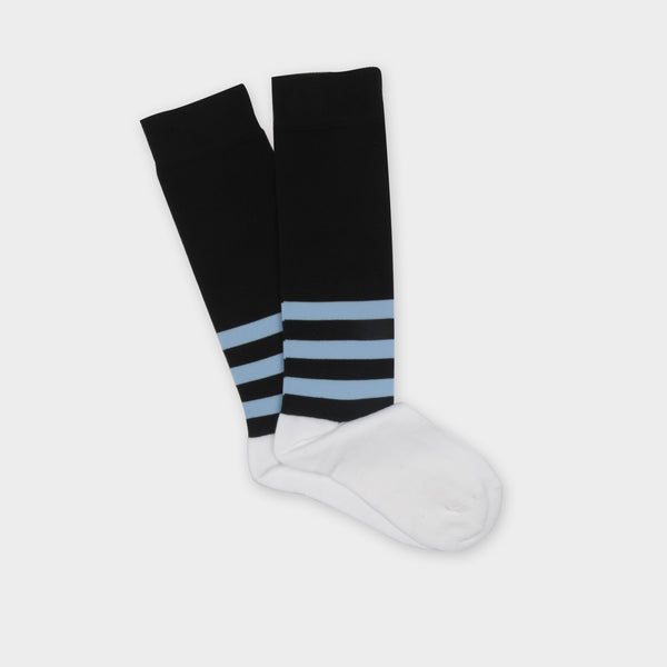 Girls & Boys Black Cotton Socks