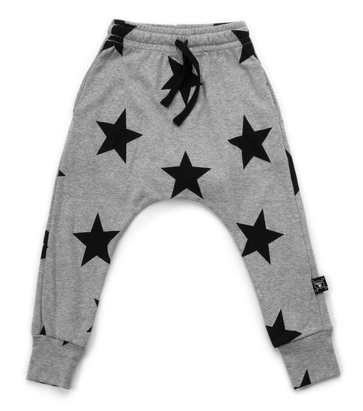 Baby Girls Grey Star Cotton Trousers