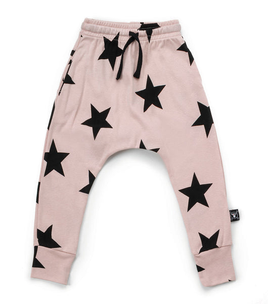 Baby Girls Pink Star Cotton Trousers