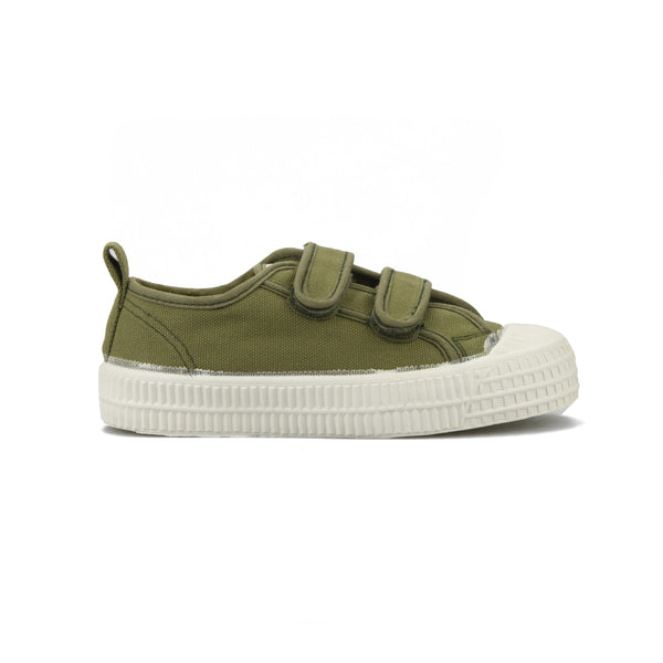 Boys Army Green Velcro Shoes
