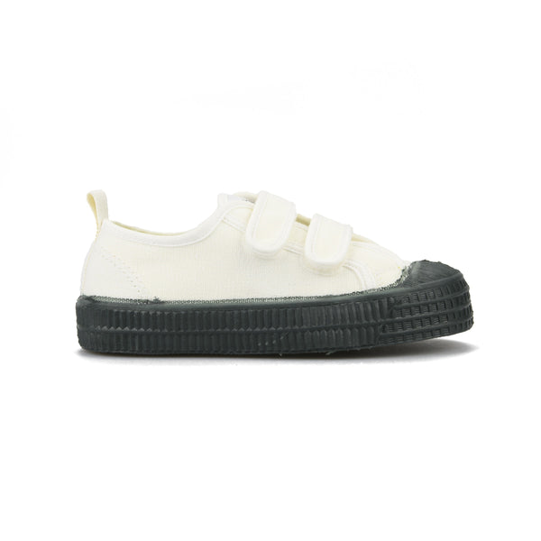 Boys White Green Velcro Shoes