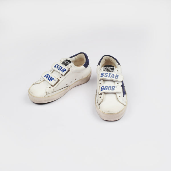 Baby Boys & Girls White & Navy Leather Shoes