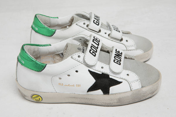 Boys & Girls White Leather Shoes