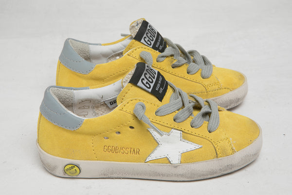 Baby Girls Yellow & White Star Leather Shoes