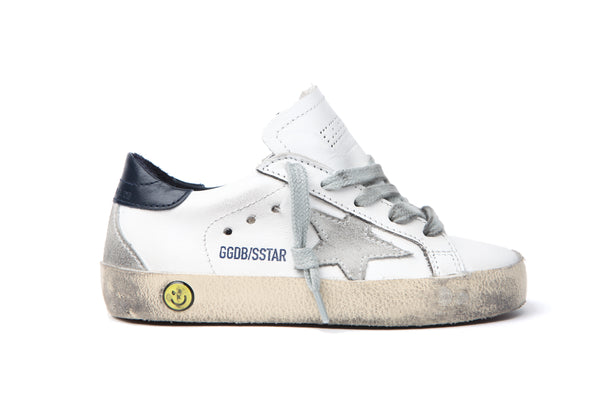 Boys & Girls White Leather Superstar Shoes