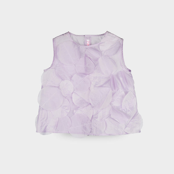 Girls Passion Flower Lilac Shirt
