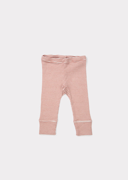 Baby Girls Lavender & Rust Cotton Trousers