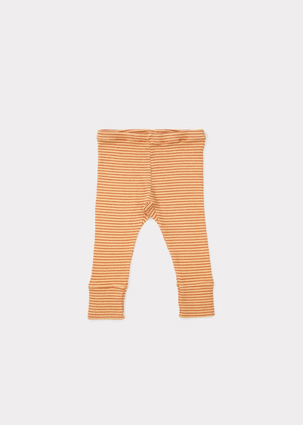 Baby Girls Camel & Rust Cotton Trousers