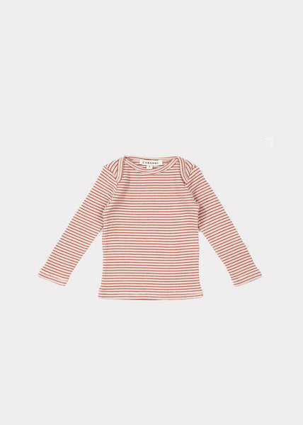 Baby Girls Lavender & Rust Cotton Top