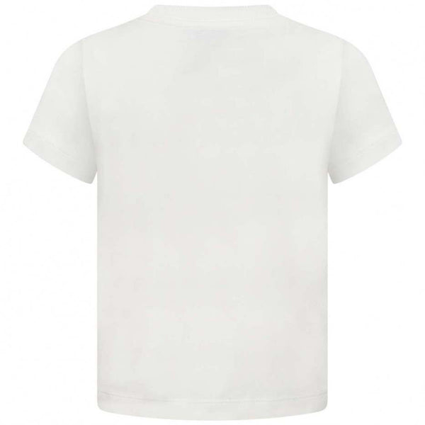 Boys & Girls Ivory Logo Cotton T-shirt