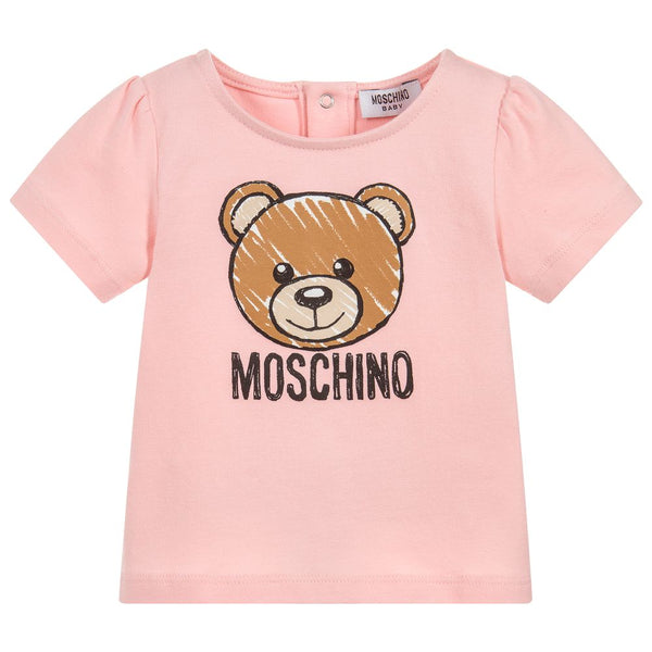 Baby Girls Pink Teddy T-shirt