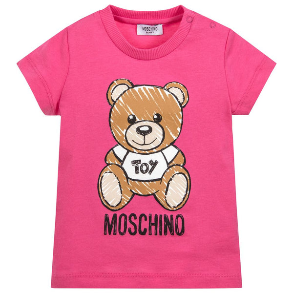 Baby Boys & Girls Fuxia Cotton T-shirt