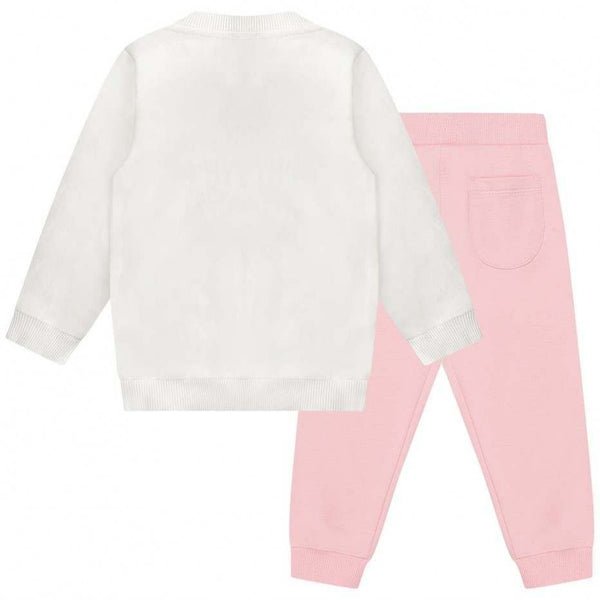 Baby Girls Pink Teddy Cotton Set