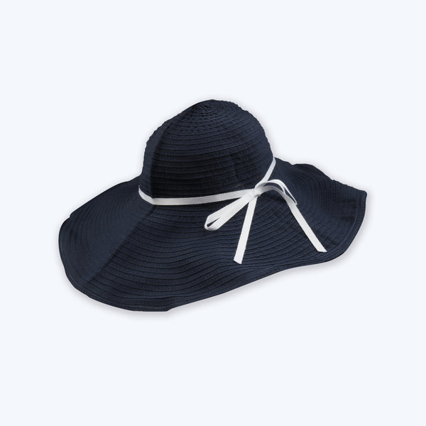 Girls Dark Blue Cotton Hat