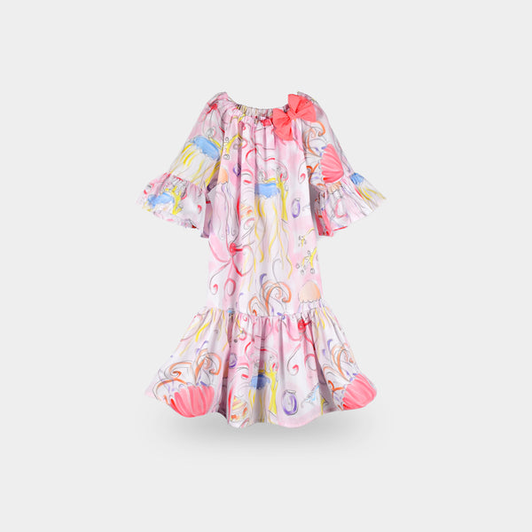 Girls Pearl Pink Cotton Dress