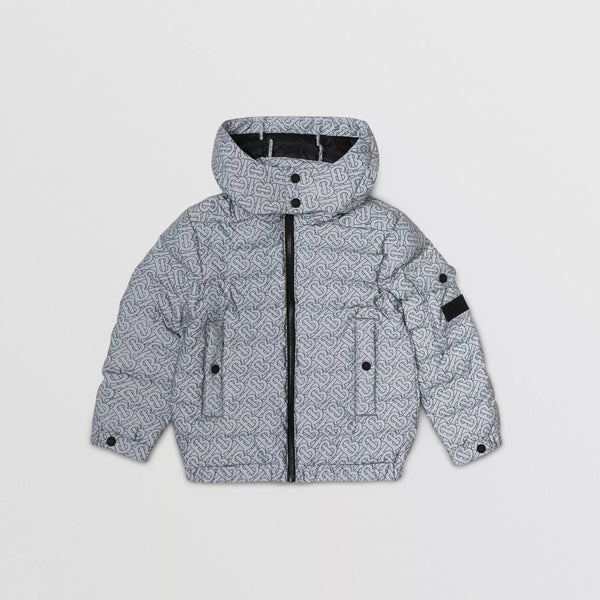 Boys Grey Padded Down Jacket