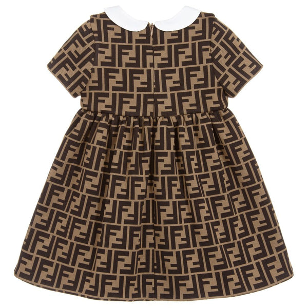 Baby Girls Brown Logo Dress