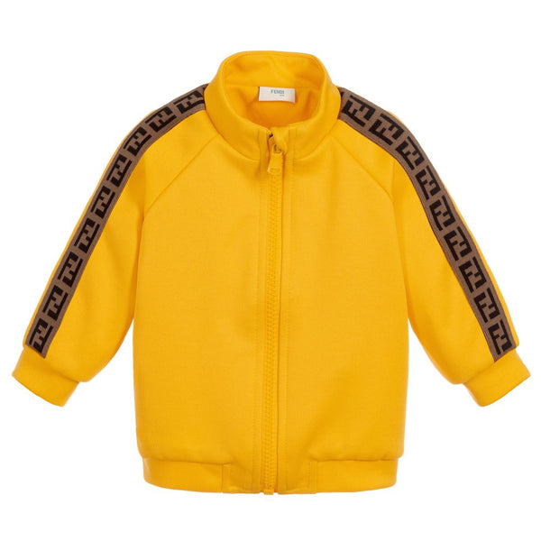 Baby Boys Yellow 'FF' Logo Coat