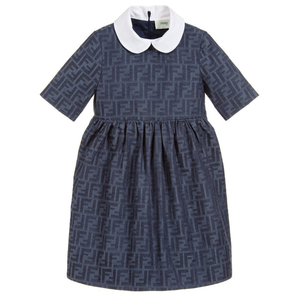 Girls Blue Logo Dress