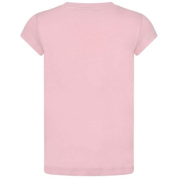 Girls Pink Logo Printed T-shirt