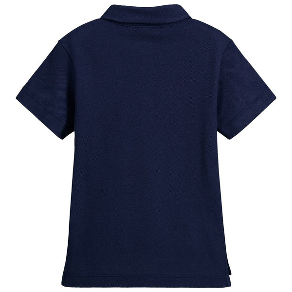 Boys Blue Cotton Polo Shirt