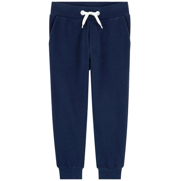 Boys Navy Cotton Trousers
