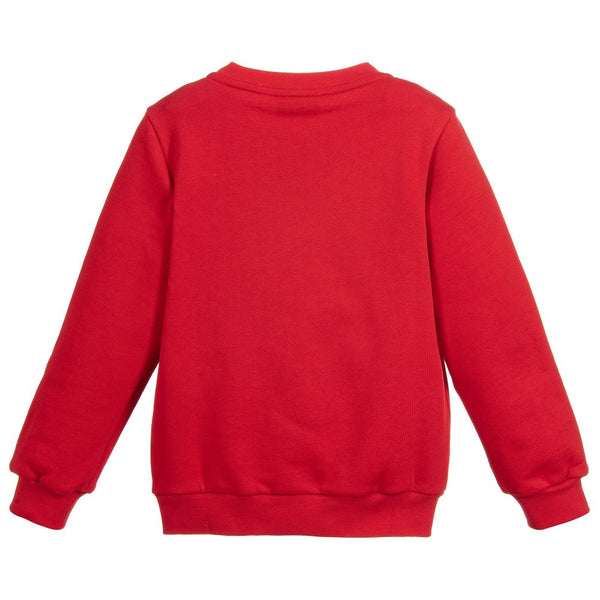 Boys & Girls Red Cotton Sweatshirt