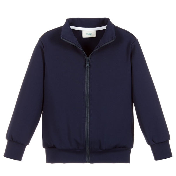 Boys & Girls Blue Logo Coat