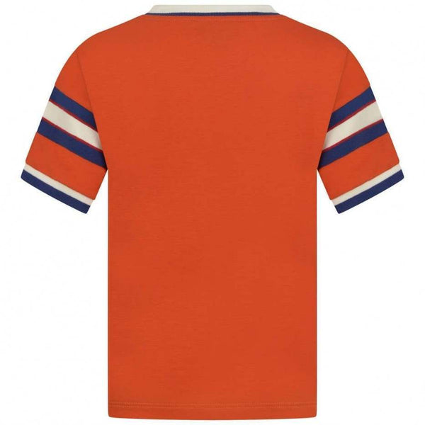 Boys Orange Cotton T-shirt