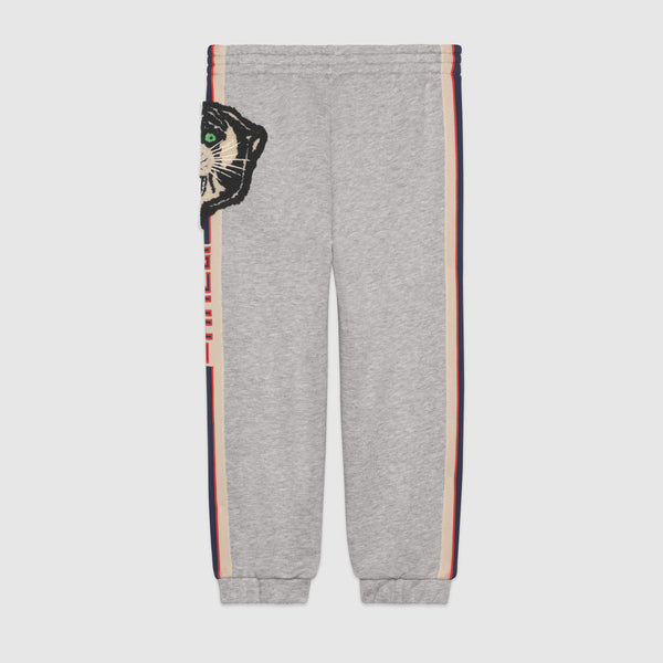 Boys Grey Embroidery Cotton Trousers