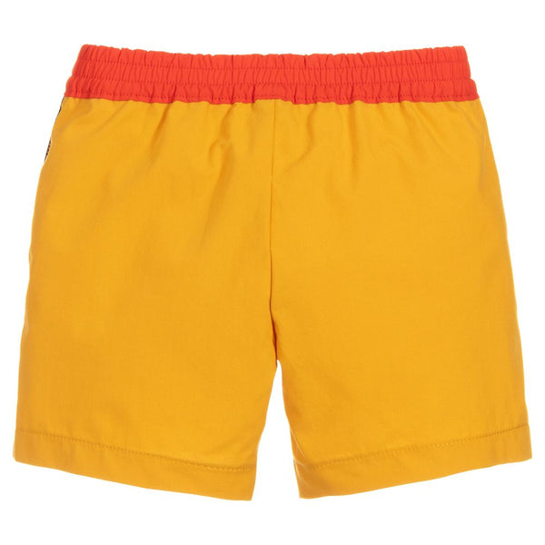 Boys Yellow & Orange Cotton Shorts