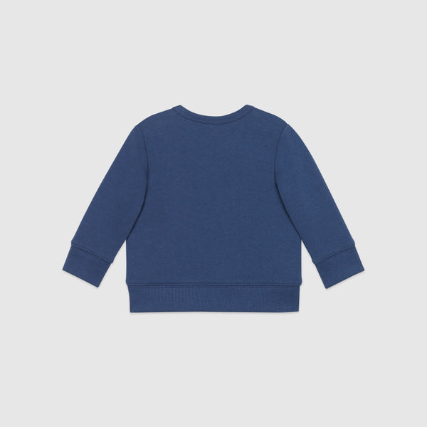 Baby Girls Blue Cotton Sweatshirt