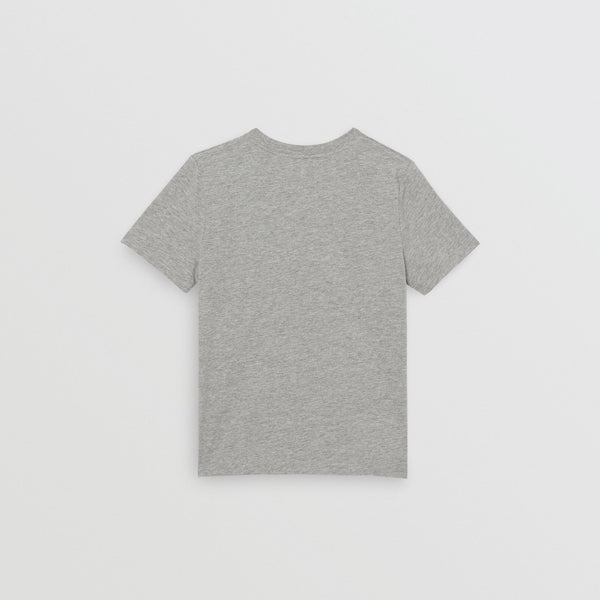 Boys Grey Melange Cotton T-shirt