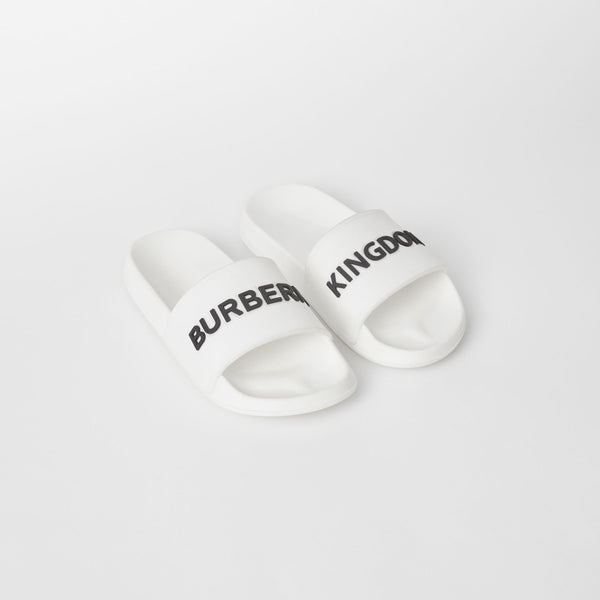 Boys & Girls White Logo Sandals