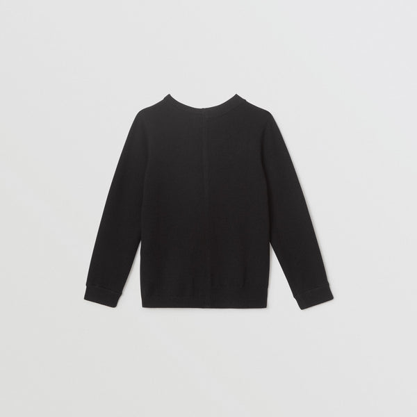 Boys Black Cashmere Sweater
