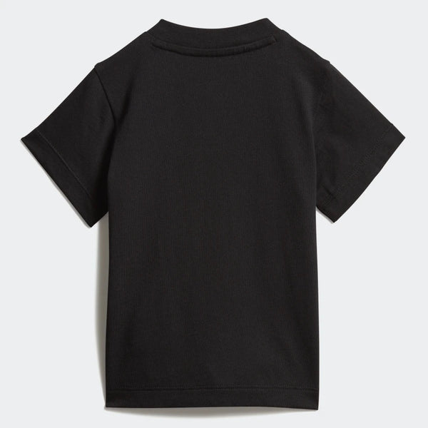 Baby Boys & Girls Black Trefoil Cotton T-shirt