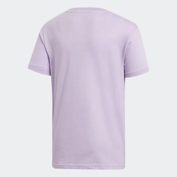 Girls Lavender Trefoil Cotton T-shirt