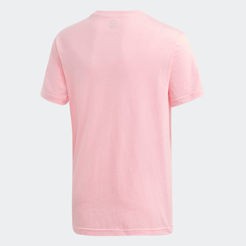 Girls Light Pink Trefoil Cotton T-shirt